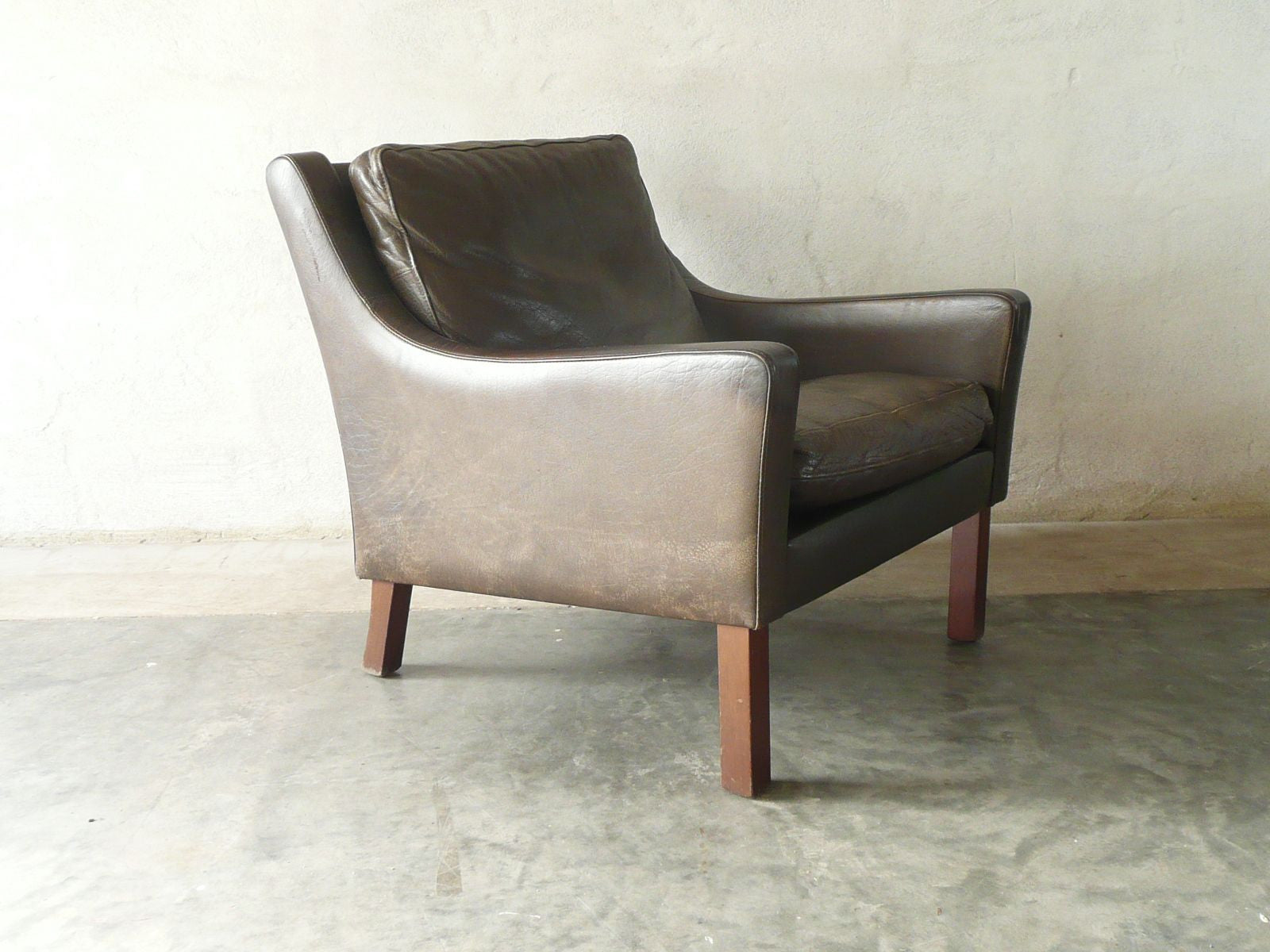 Leather club chair no. 1
