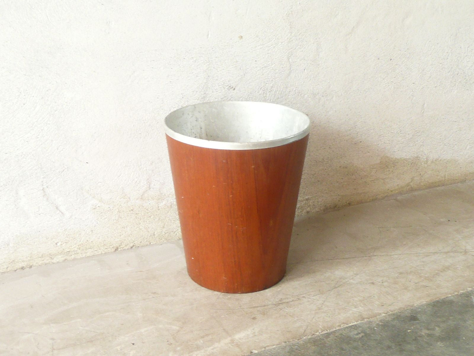 Teak waste basket