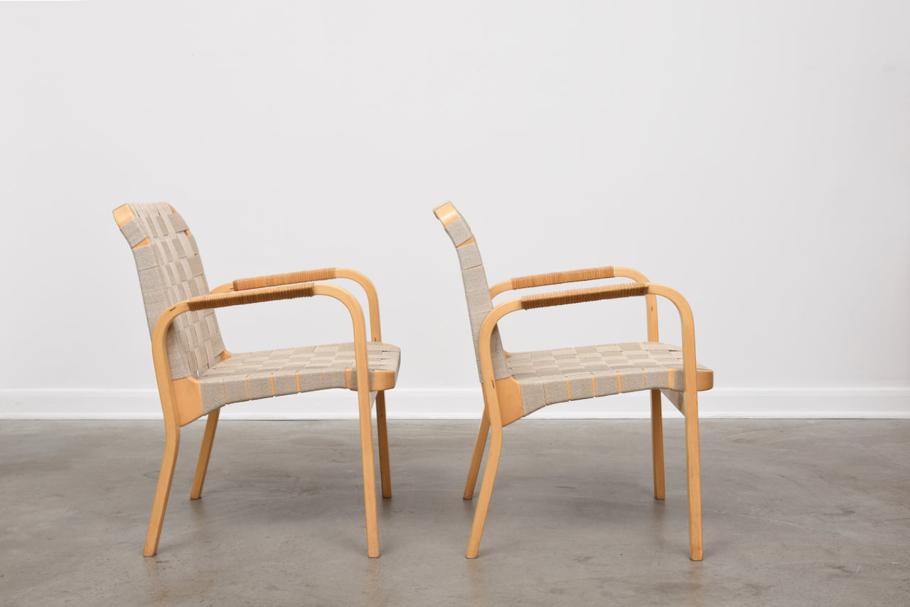 Two available: Model 45 armchairs by Alvar Aalto