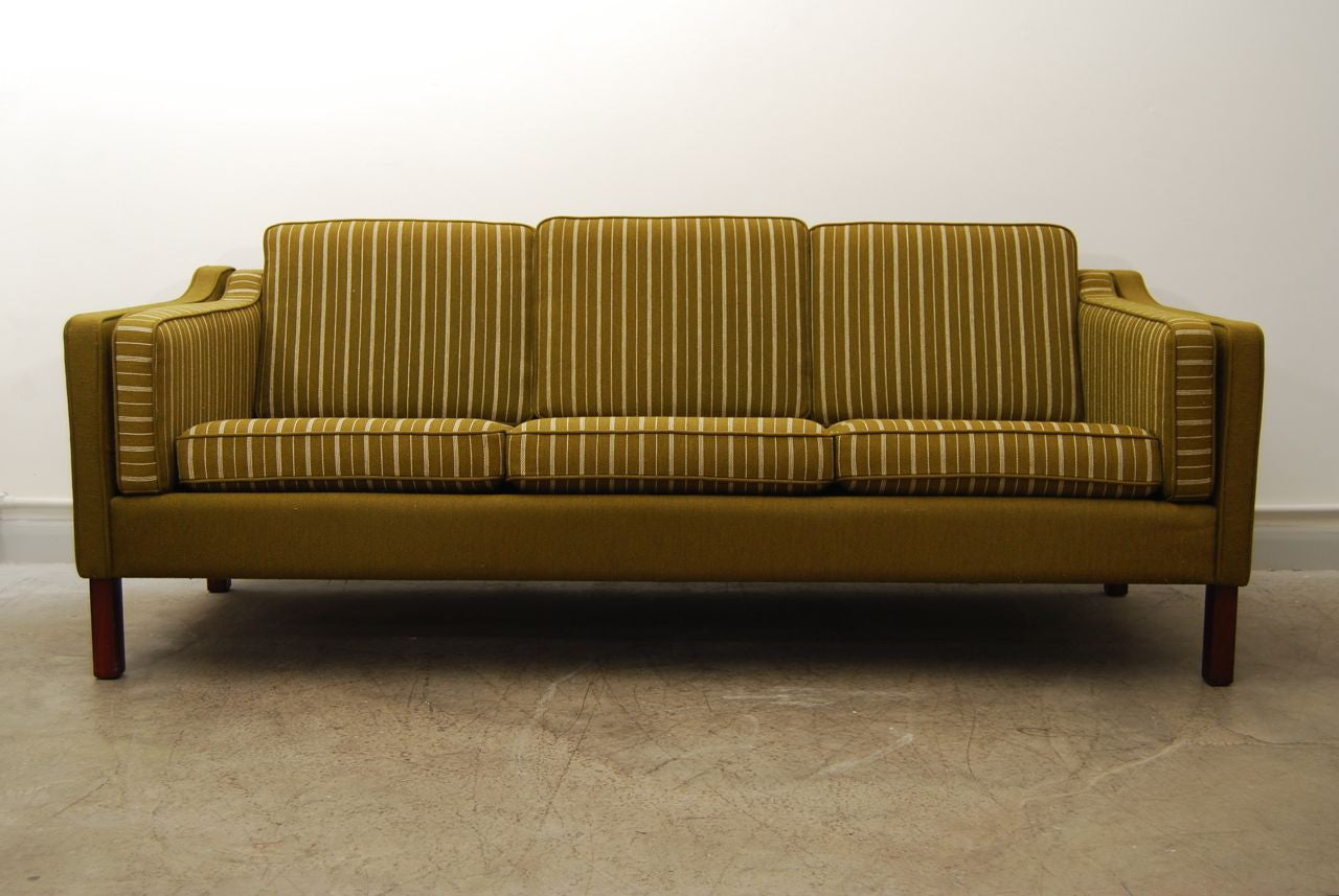 Three seat army wool sofa in style of Mogensen