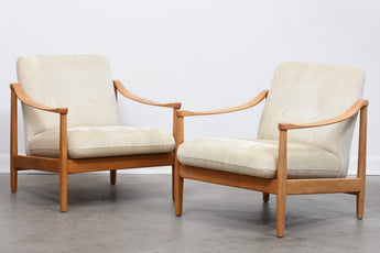 Two available: 1960s Danish beech loungers