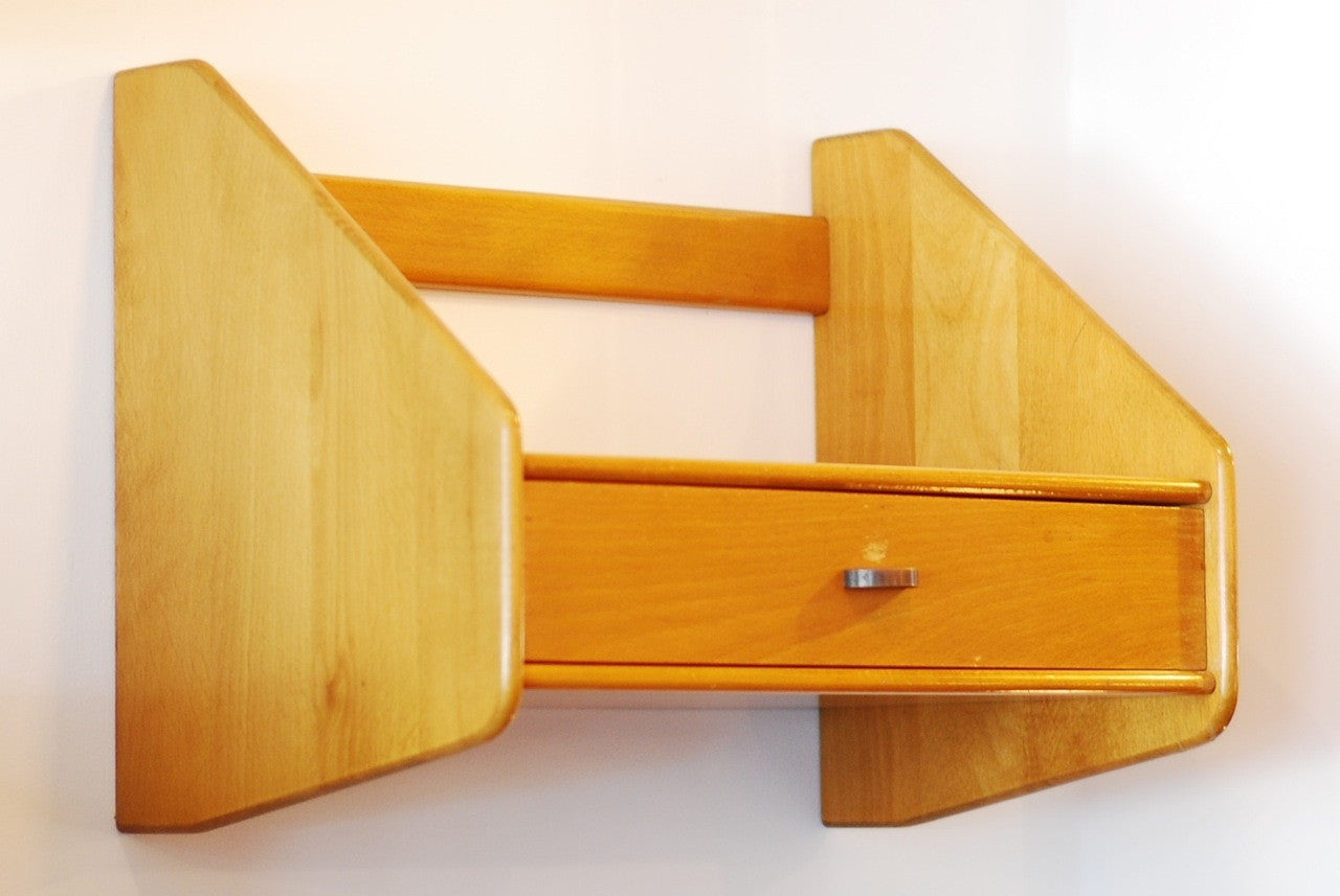 Beech floating shelf by Hans J. Wegner