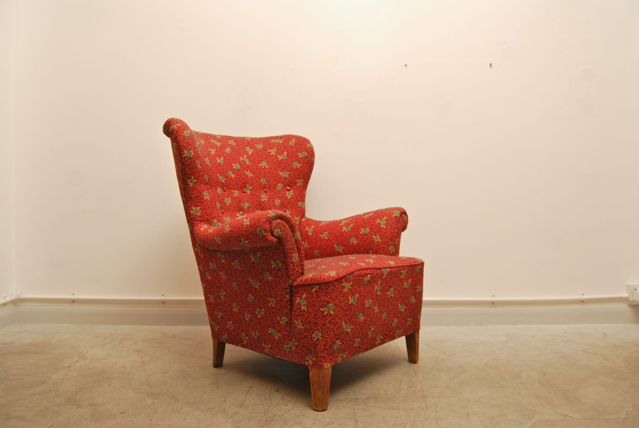Fix me up project: Wingback lounge chair by Carl Malmsten