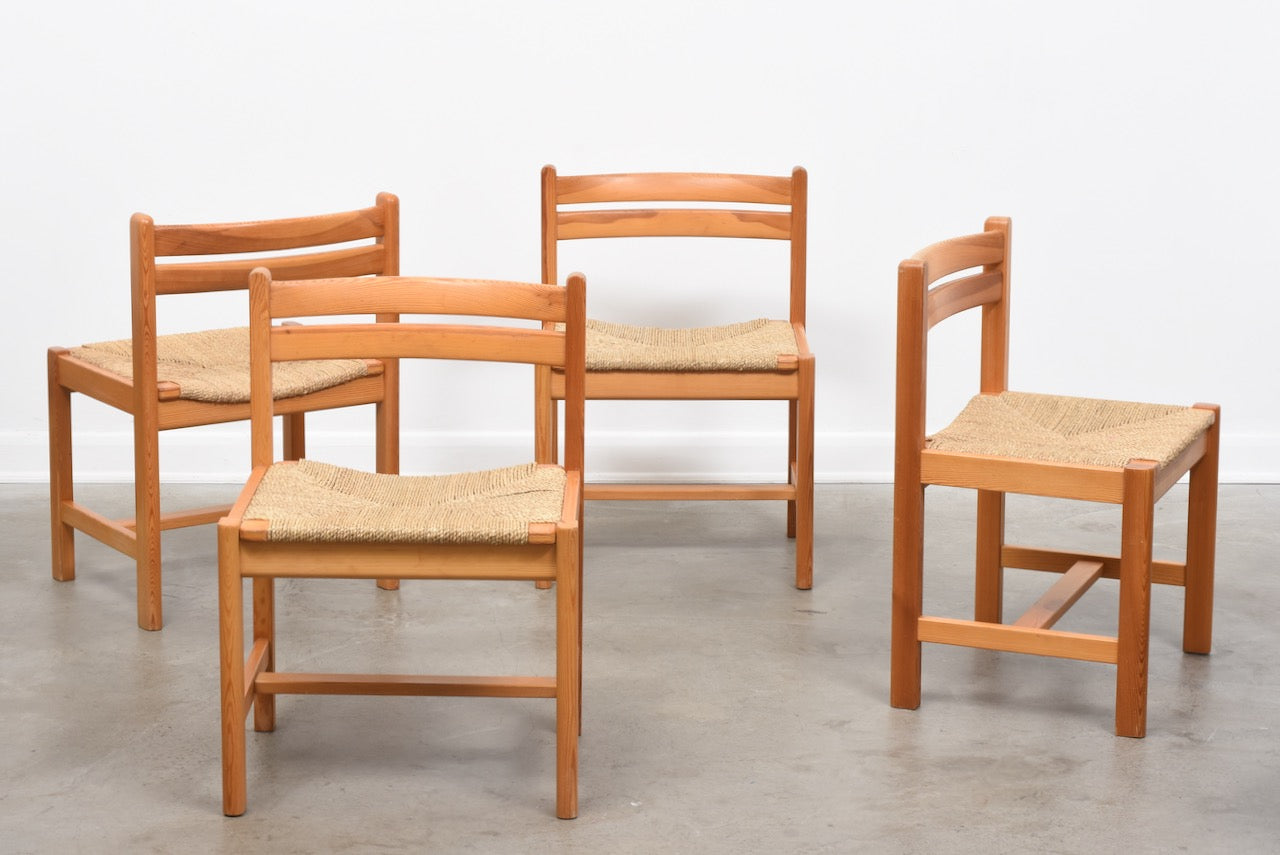 Set of four dining chairs by Børge Mogensen