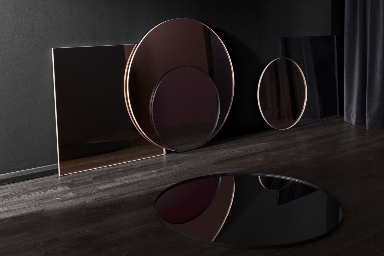 Circum mirror (Smoked finish/Small) by AYTM