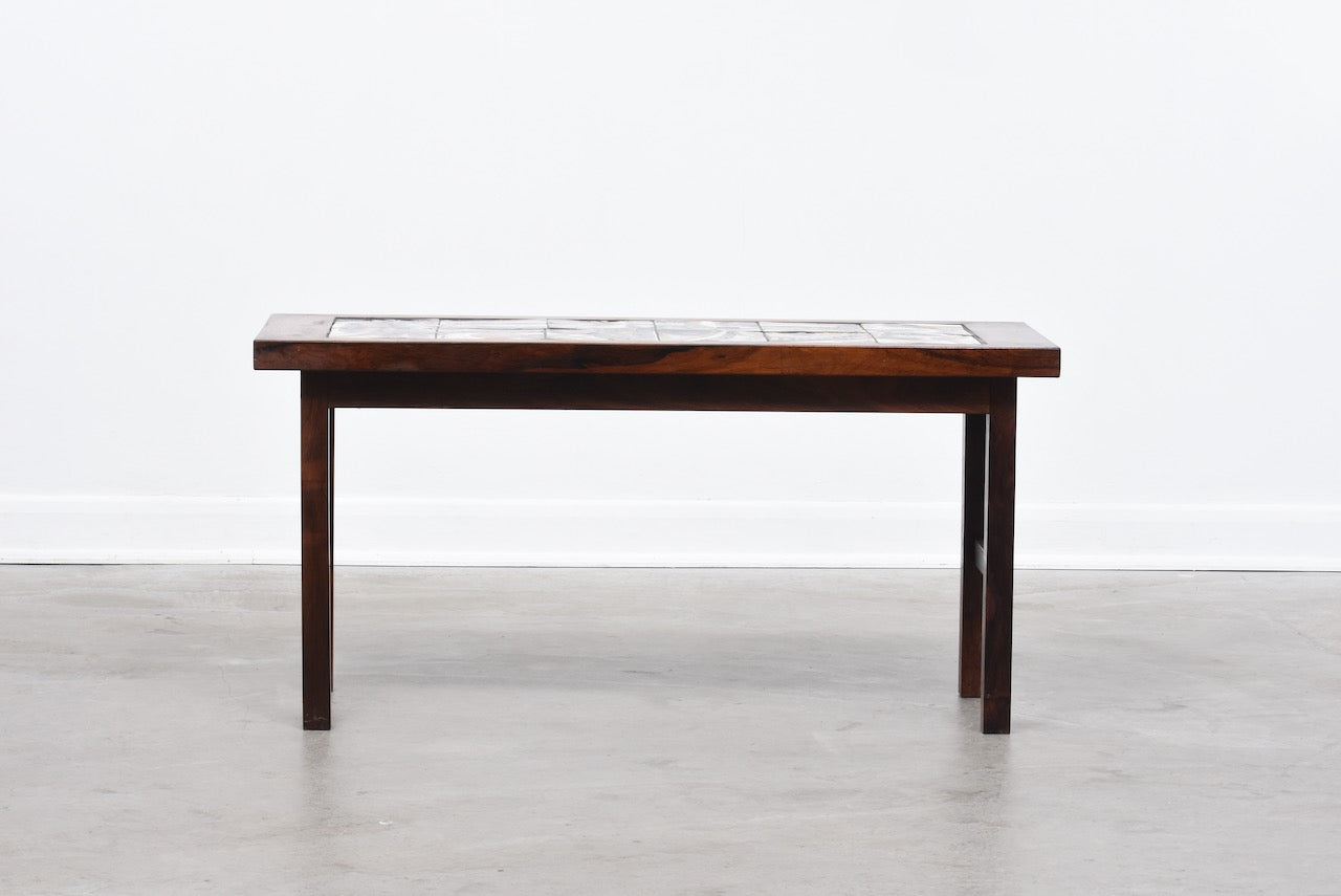Rosewood + tile plant table