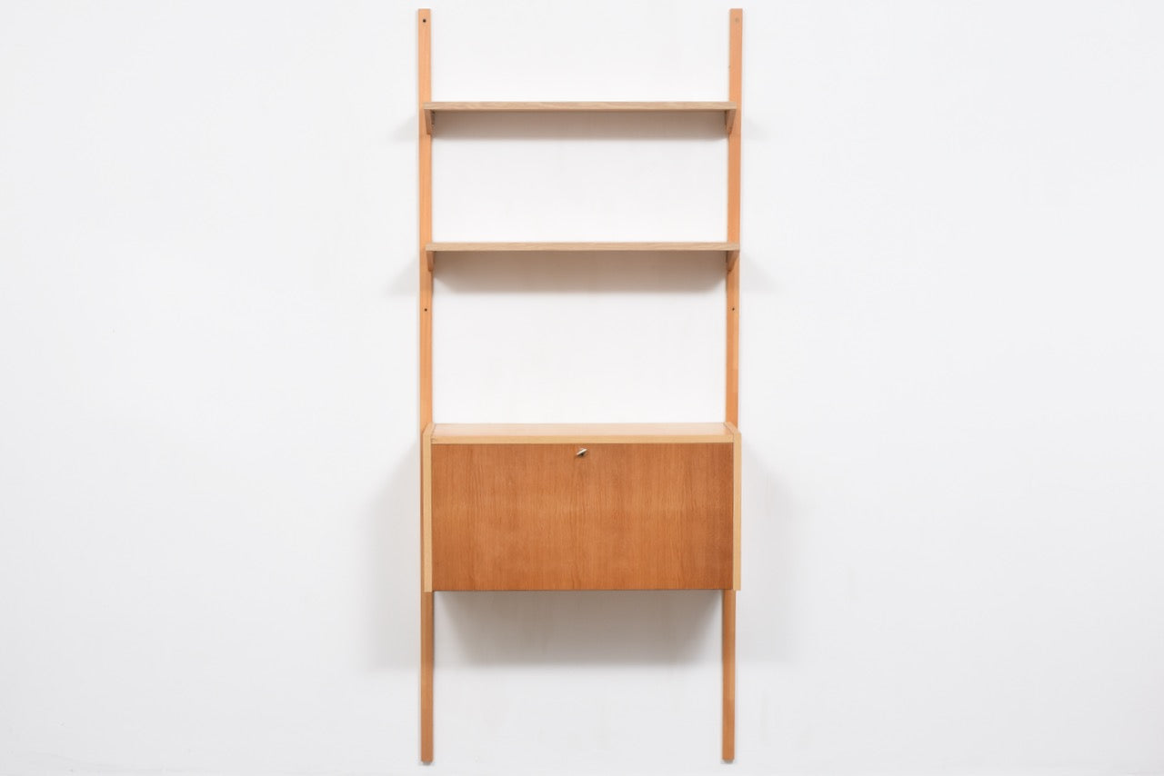 Single bay of PS shelving in oak