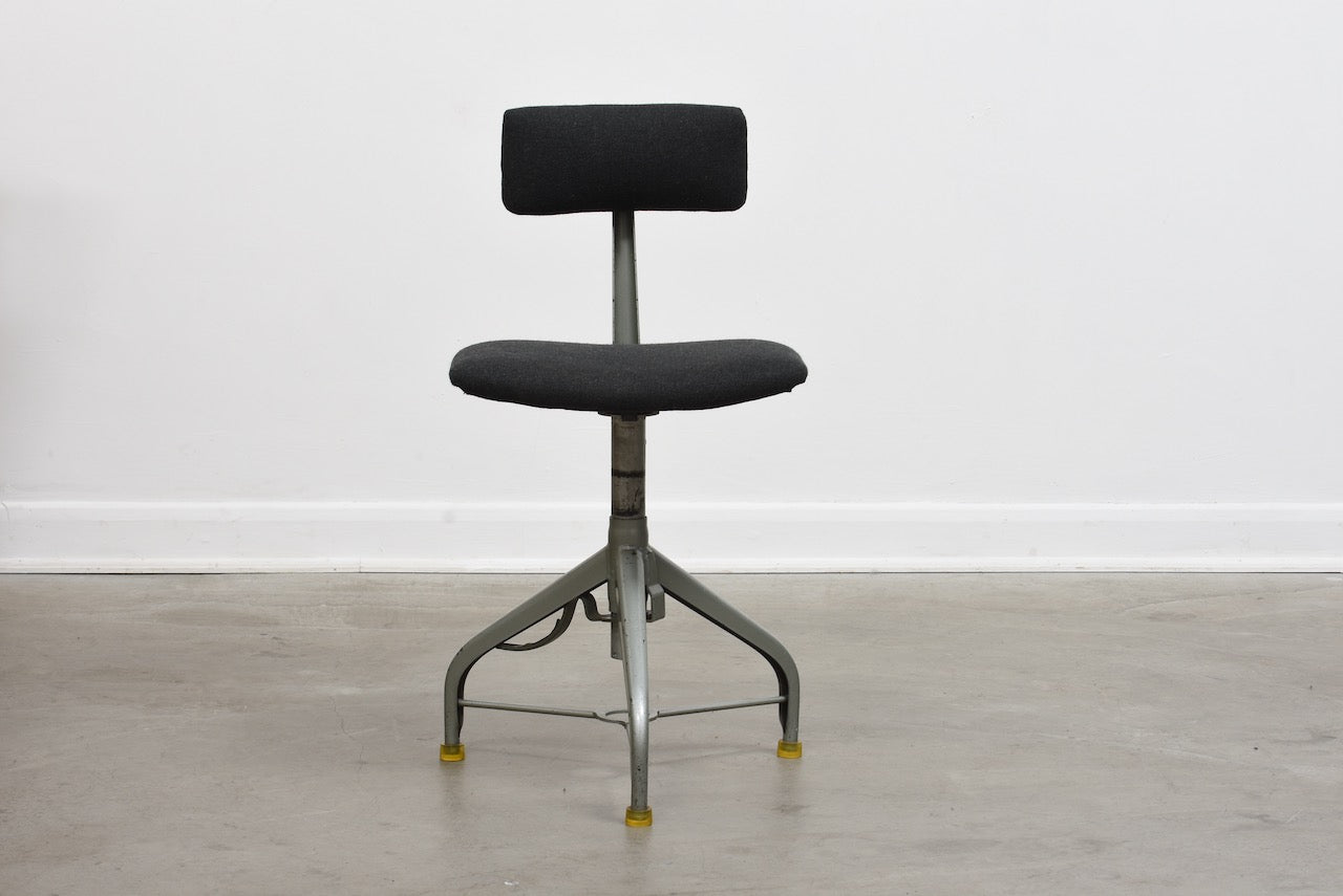 1950s Swedish industrial task chair