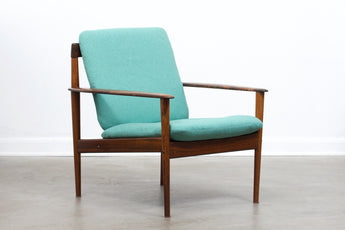 Rosewood lounge chair by Grete Jalk for Poul Jeppesen