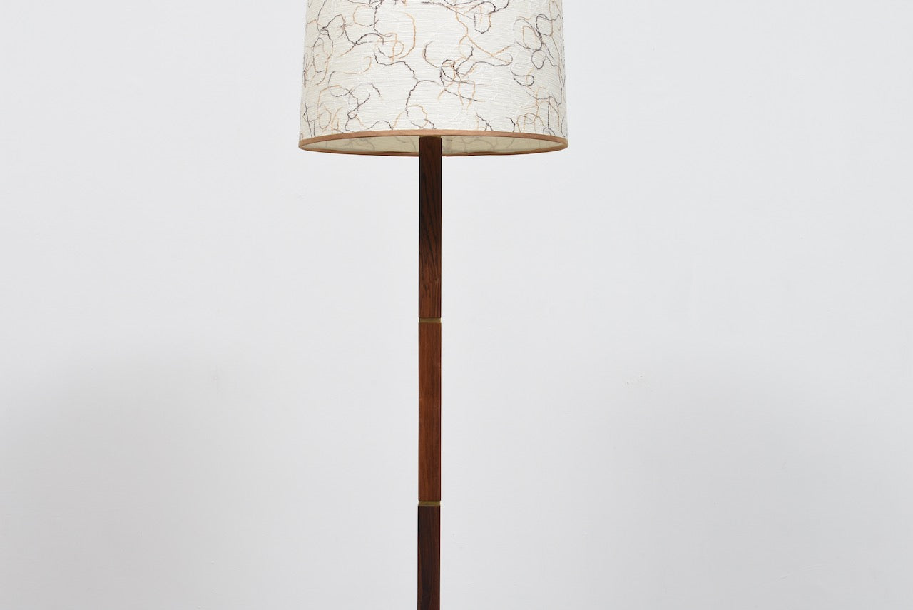1960s Danish rosewood floor lamp + shade
