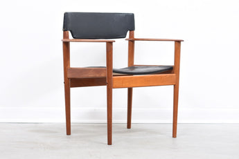 Teak + leather armchair by Grete Jalk