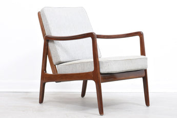New upholstery included: 1950s lounger by Ole Wanscher