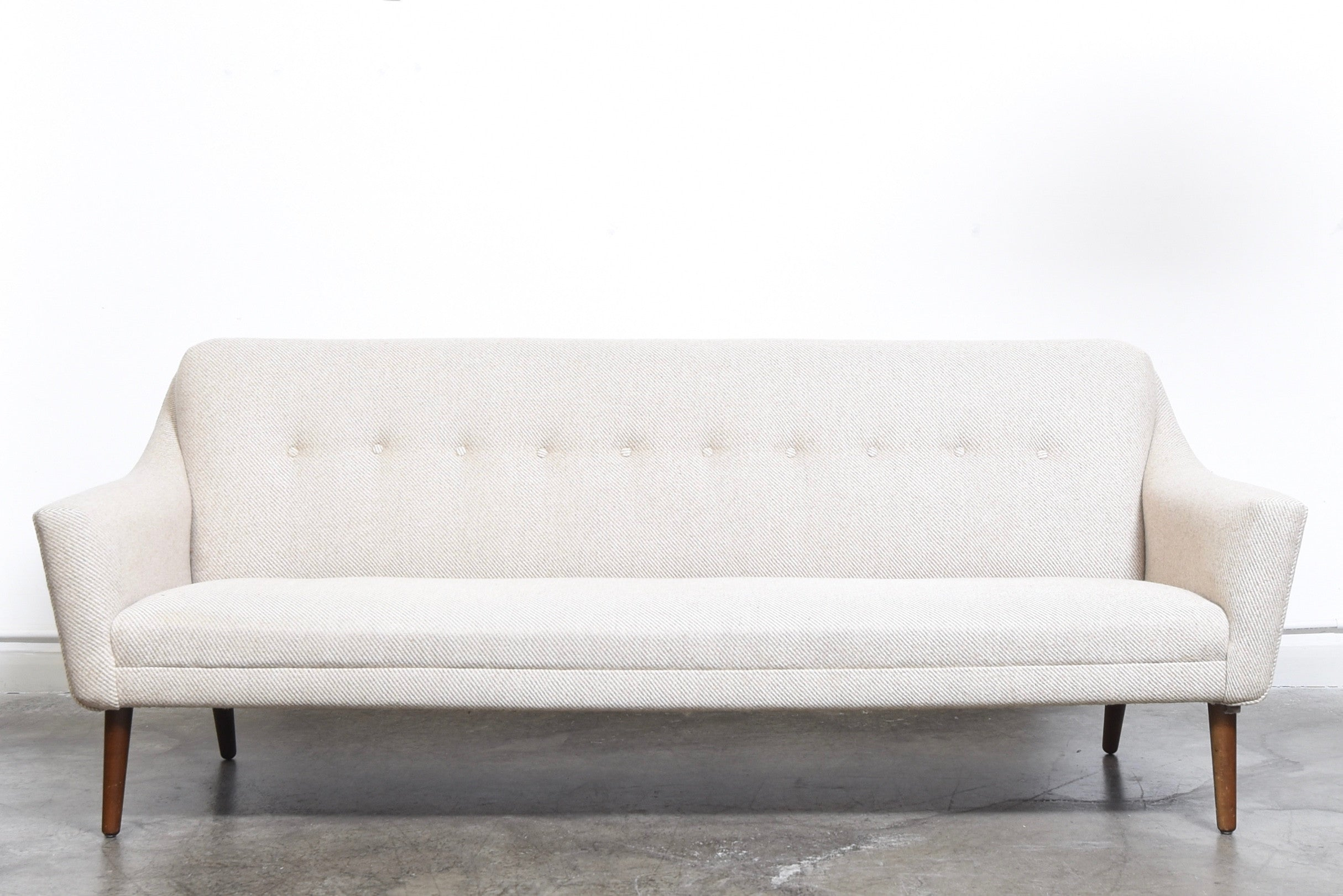 1960s three seat sofa with wool upholstery