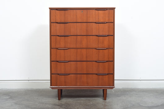Large 1960s Danish chest of drawers in teak
