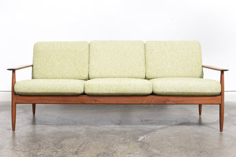 1960s teak sofa with sprung cushions