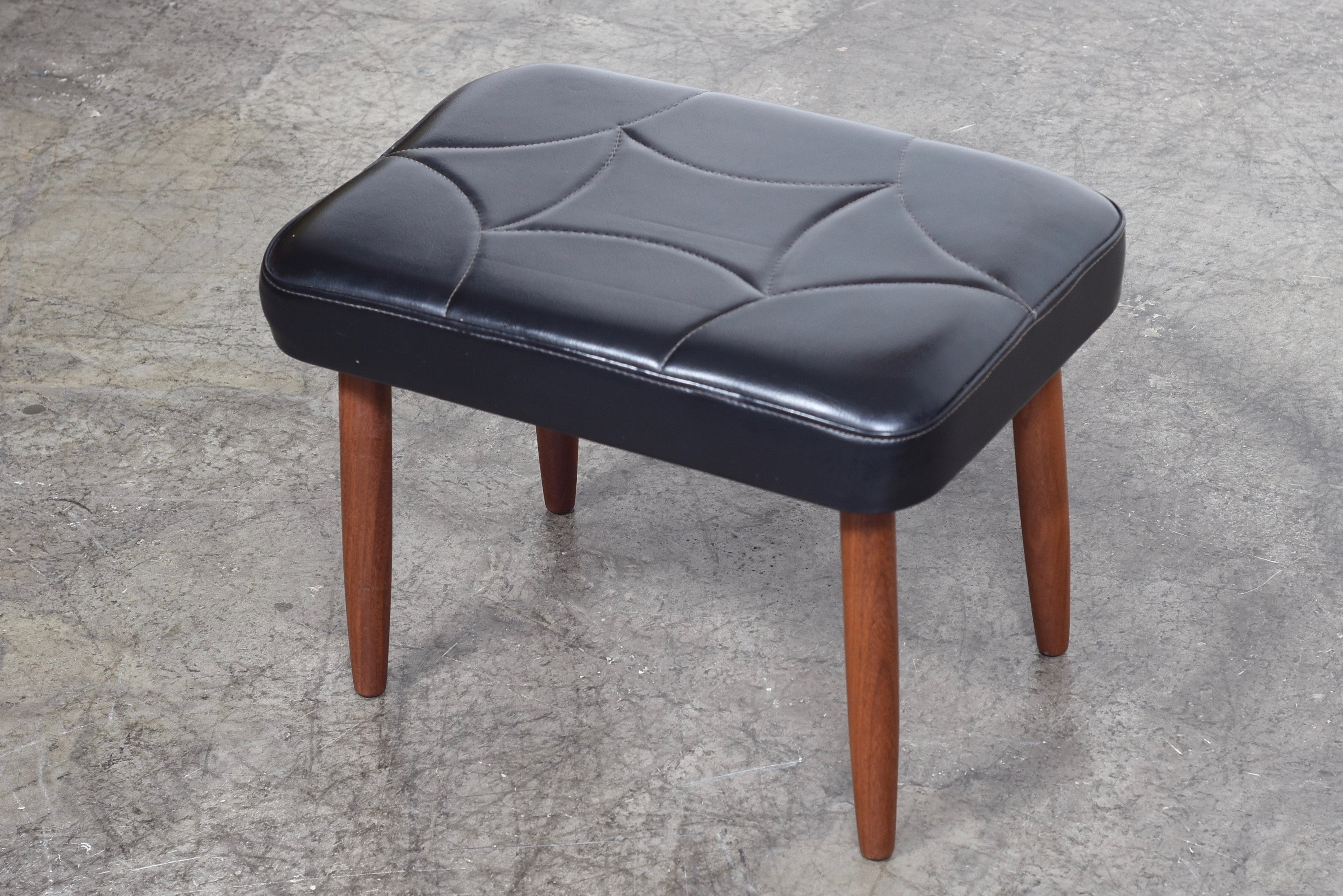 PrebenJune17 Two available: Skai foot stool with teak legs