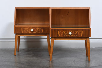 Pair of 1950s Swedish bedside tables