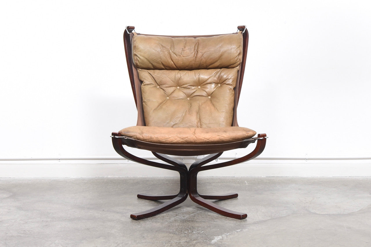 High back Falcon chair by Sigurd Ressell