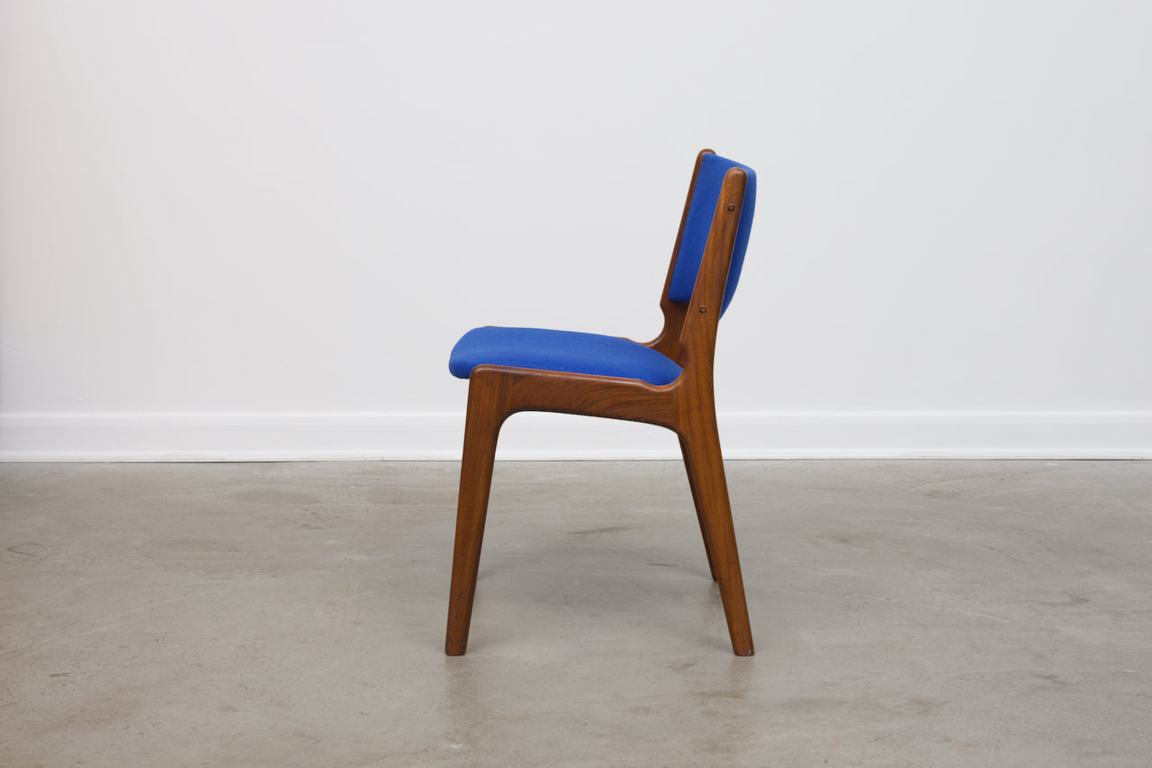 Set of four teak chairs by Erik Buck