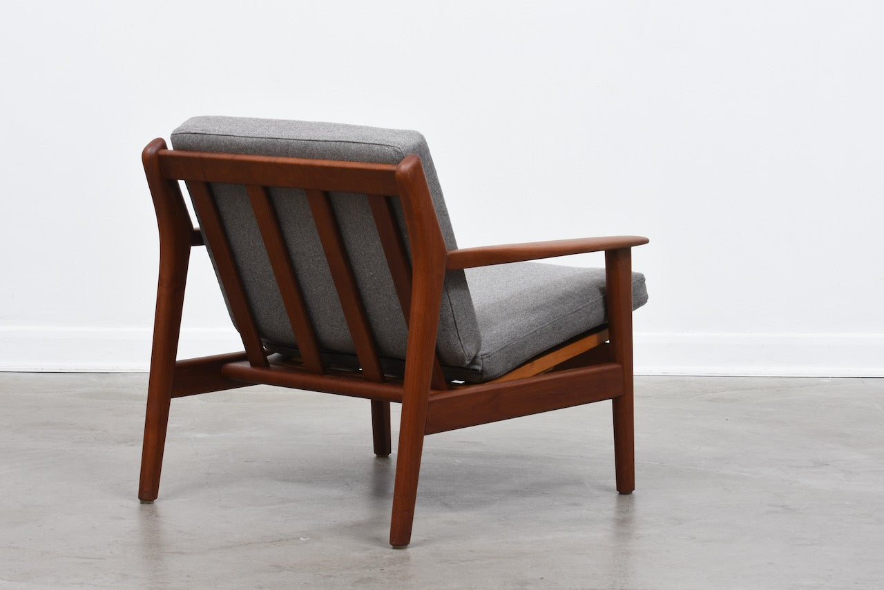 1960s teak lounger by Poul Volther