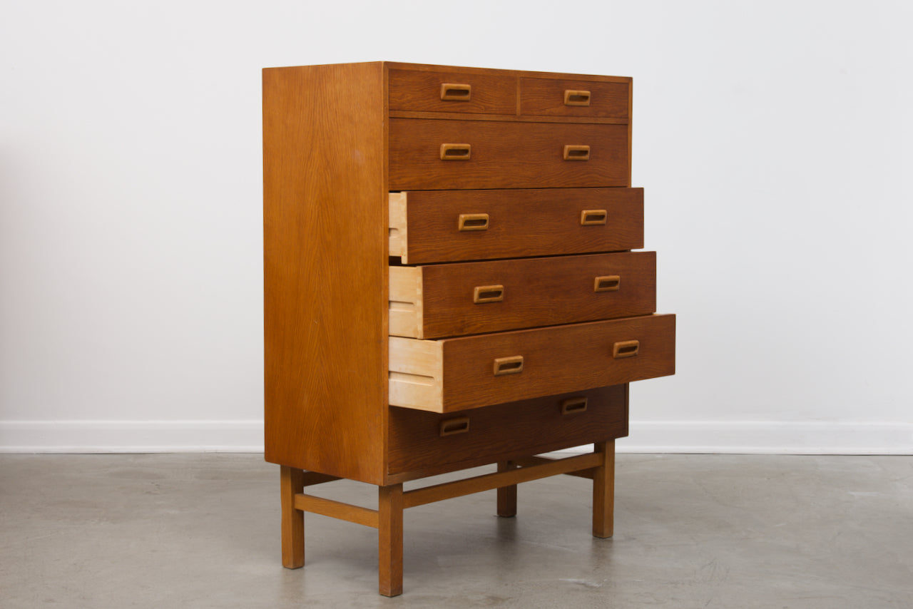 Large chest of oak drawers by Vitze Møbelfabrik