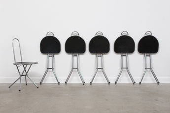 Six available: 1980s metal + perspex chairs by Niels Gammelgaard for IKEA