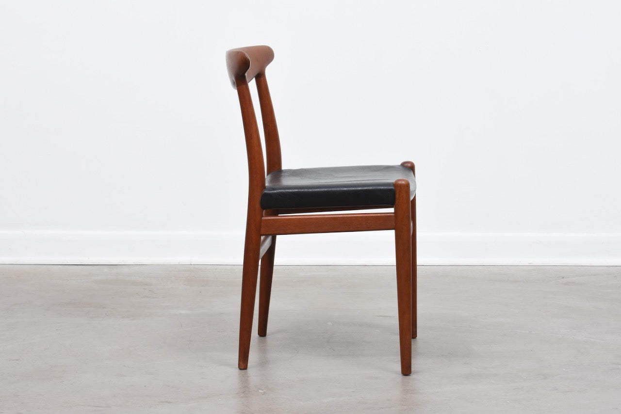 Four available: Model W2 dining chairs by Hans J. Wegner