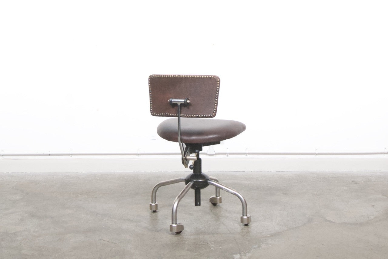 Architect chair with leather seat/back