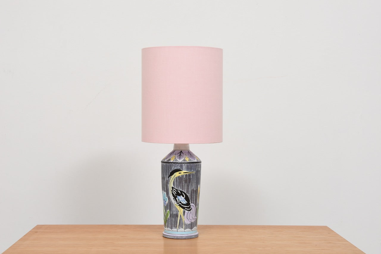 Vintage ceramic table lamp by Nila Alingsås