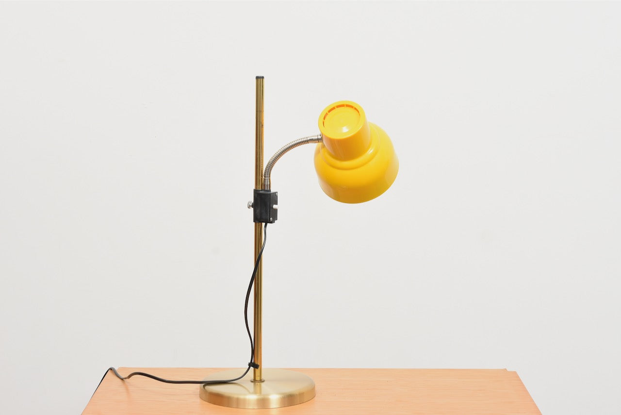 Vintage table lamp with yellow shade
