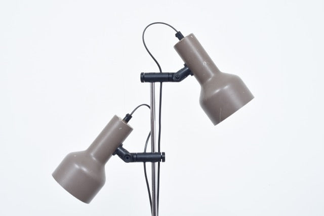 Vintage twin headed danish floor lamp with taupe shades chase petejuly17 vintage twin headed danish floor lamp with taupe shades aloadofball Image collections