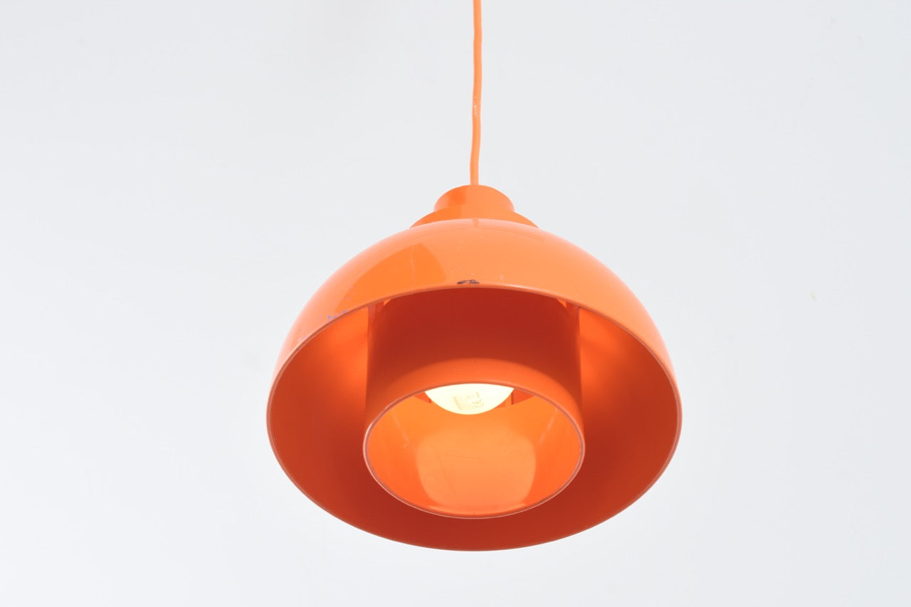 Orange Minisol ceiling lamp by Svend Middelboe
