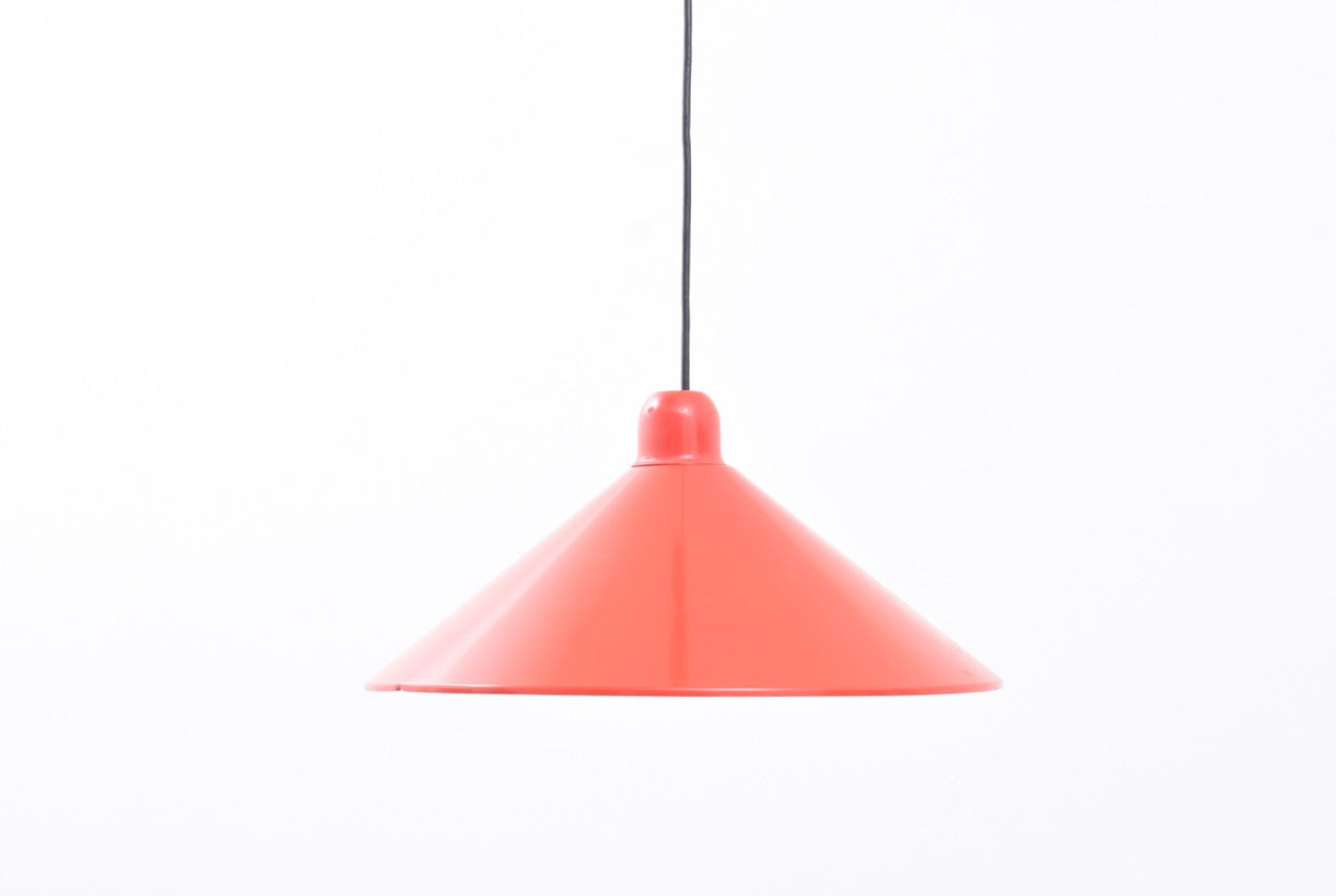 Vintage red pendant light