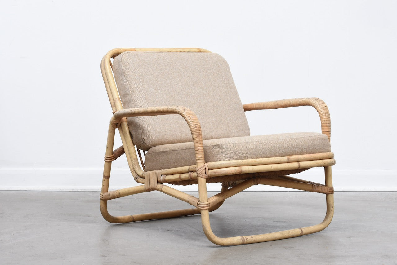 1960s bamboo lounge chair