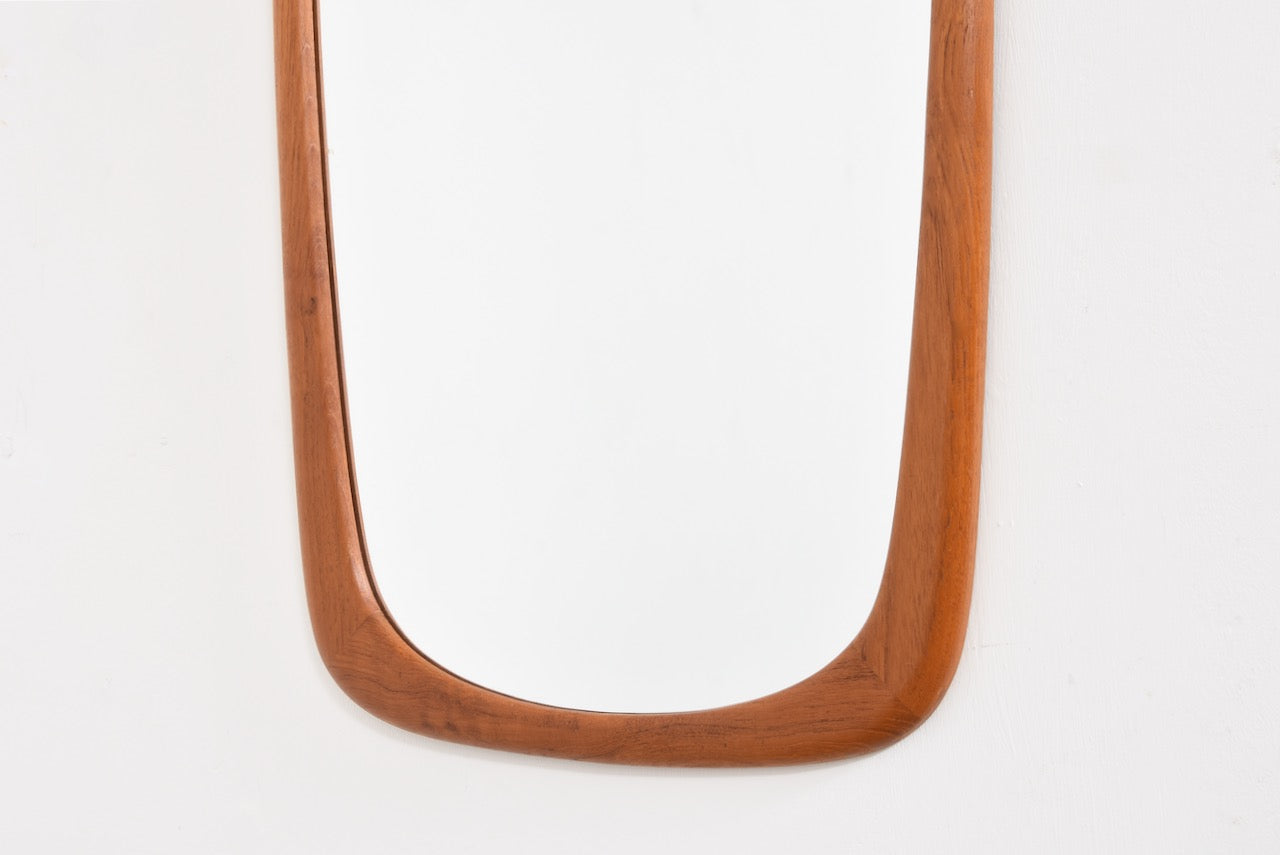 Vintage full length mirror in teak