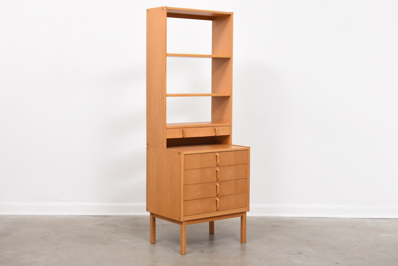 1960s oak storage bay by Bodafors