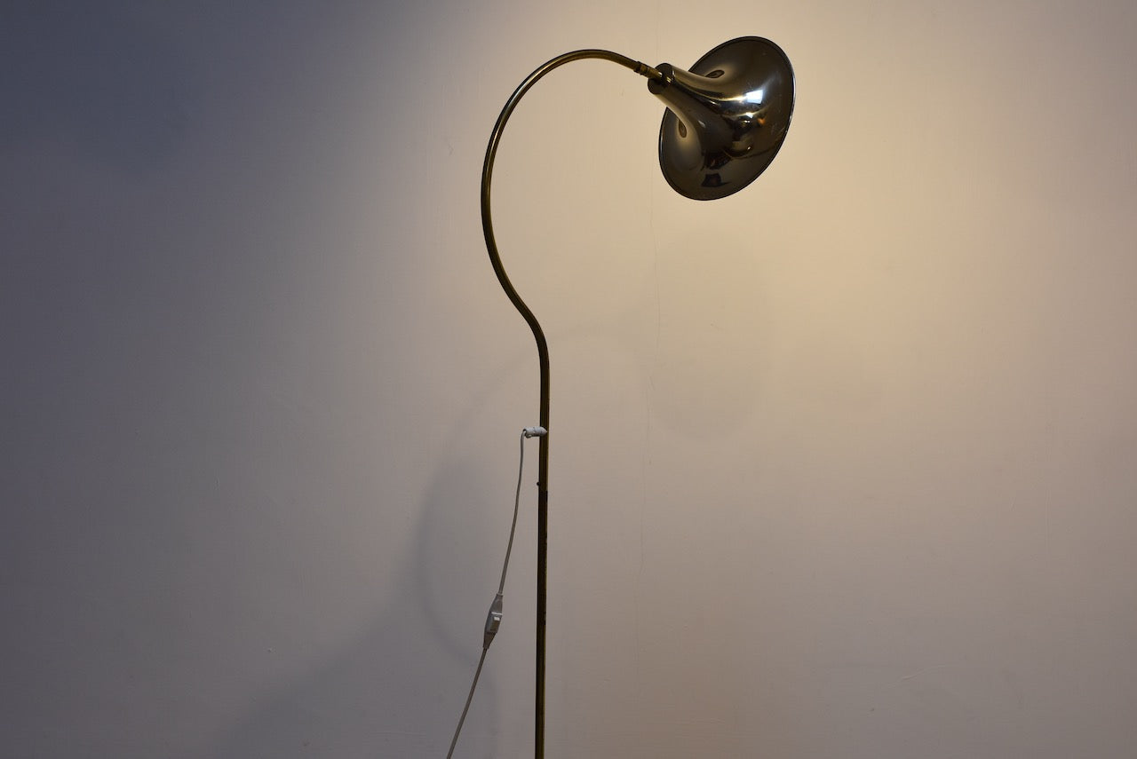 1970s brass floor lamp by Börje Claes