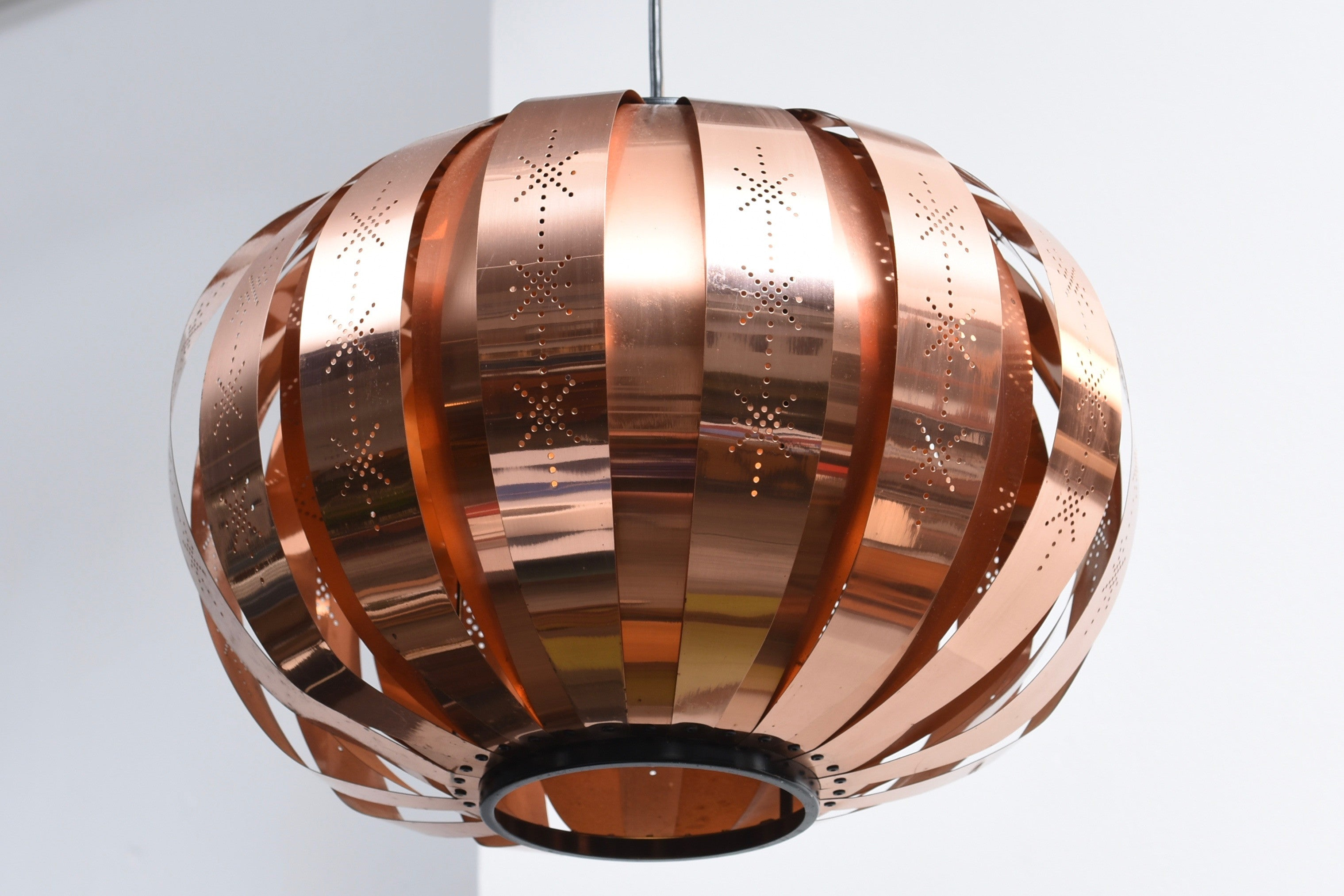 Copper ceiling light by Coronell
