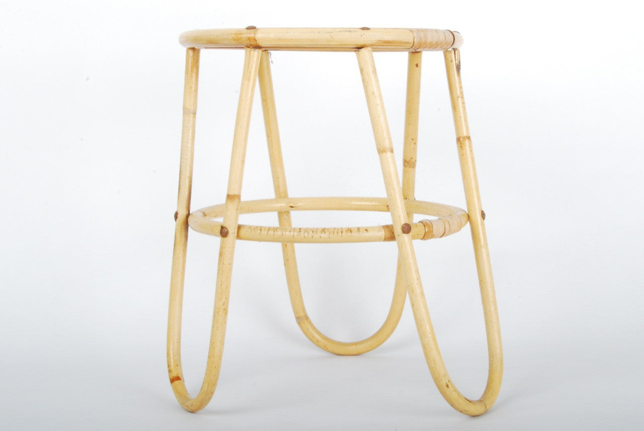 Bamboo and glass plant stand