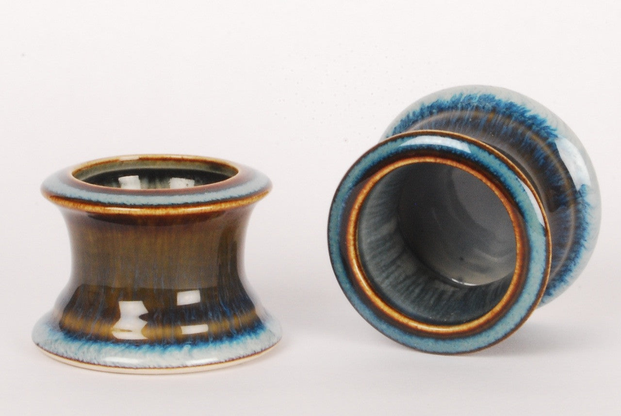 Pair of ceramic candle holders