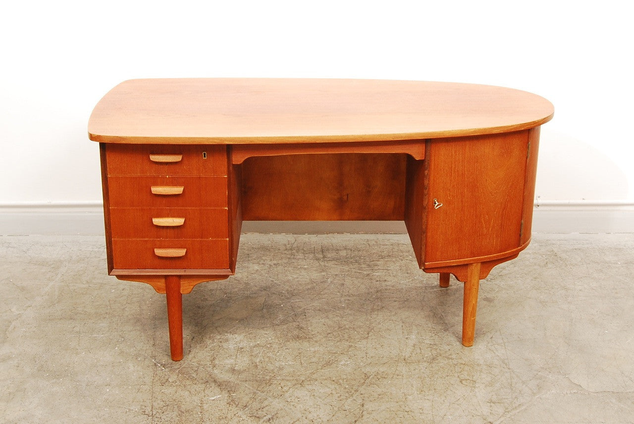 Teak and oak desk