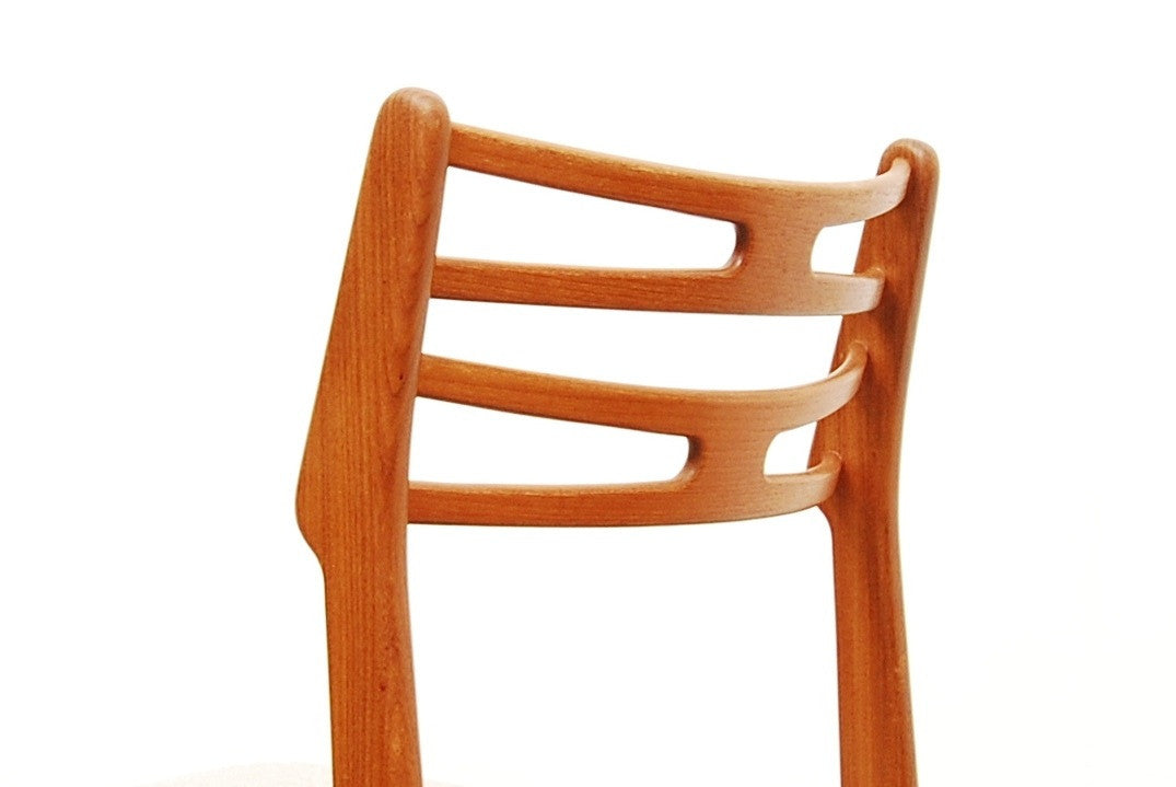 Single teak desk/dining chair