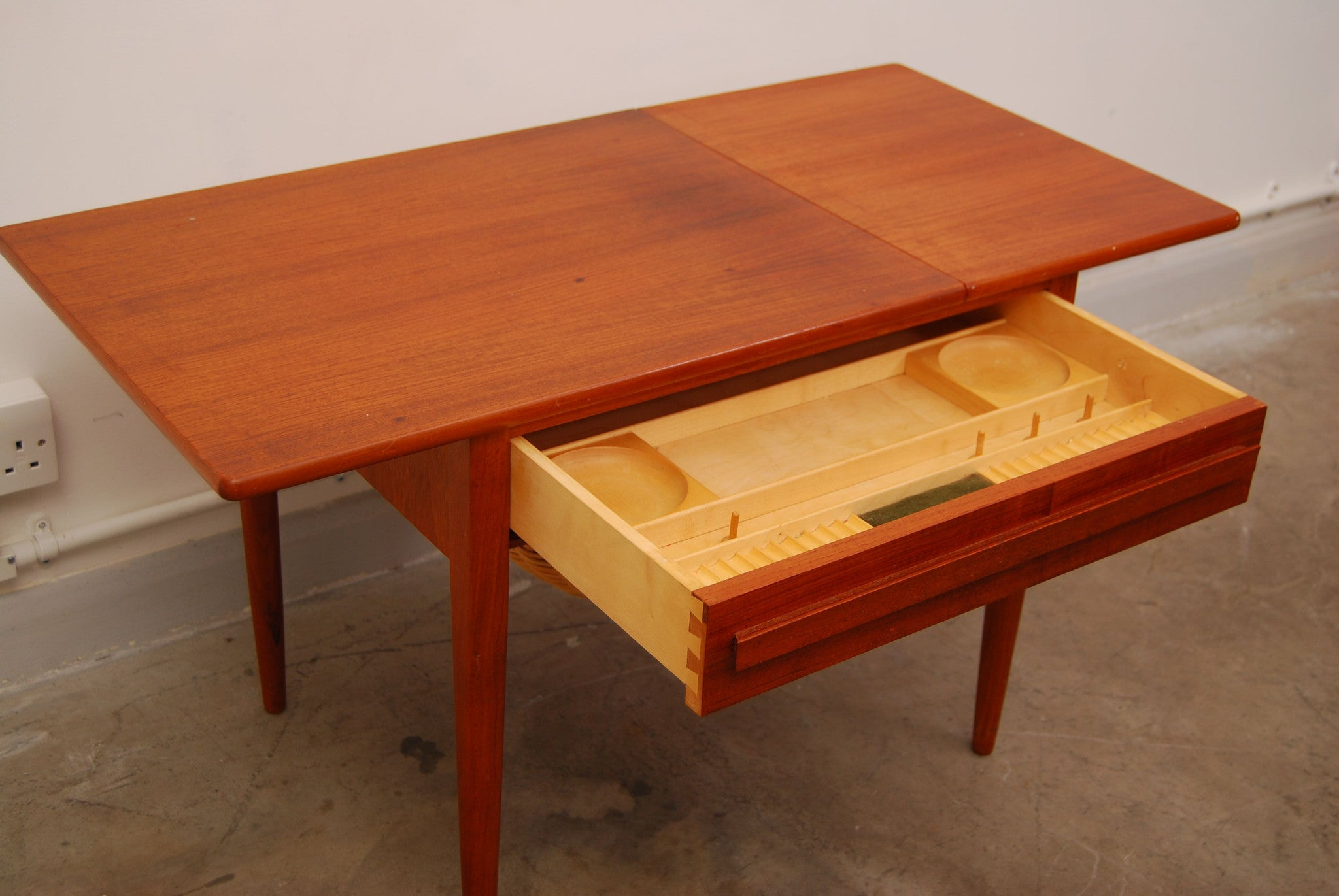 Teak sewing table