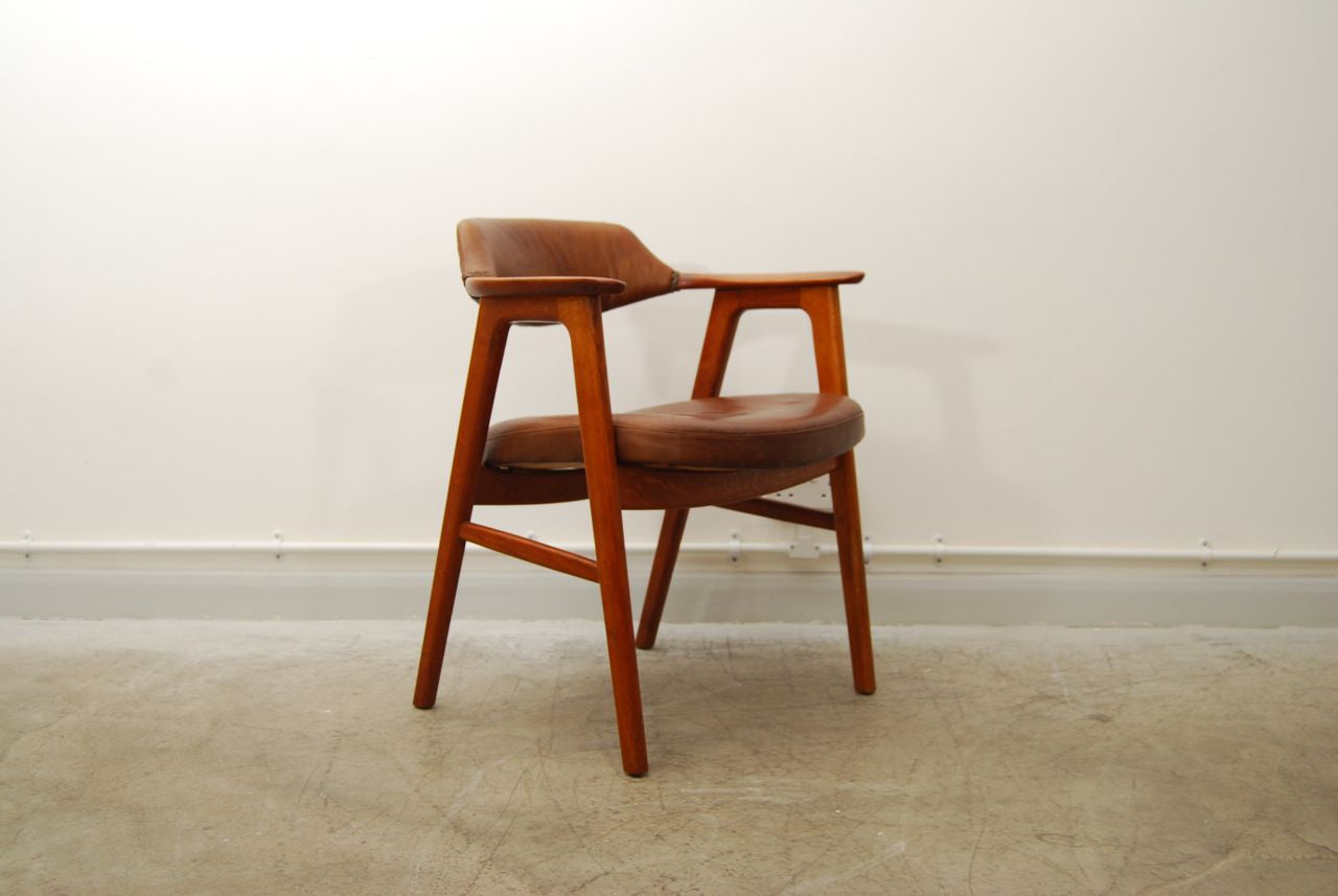 Teak and leather armchair by Erik Kirkegaard
