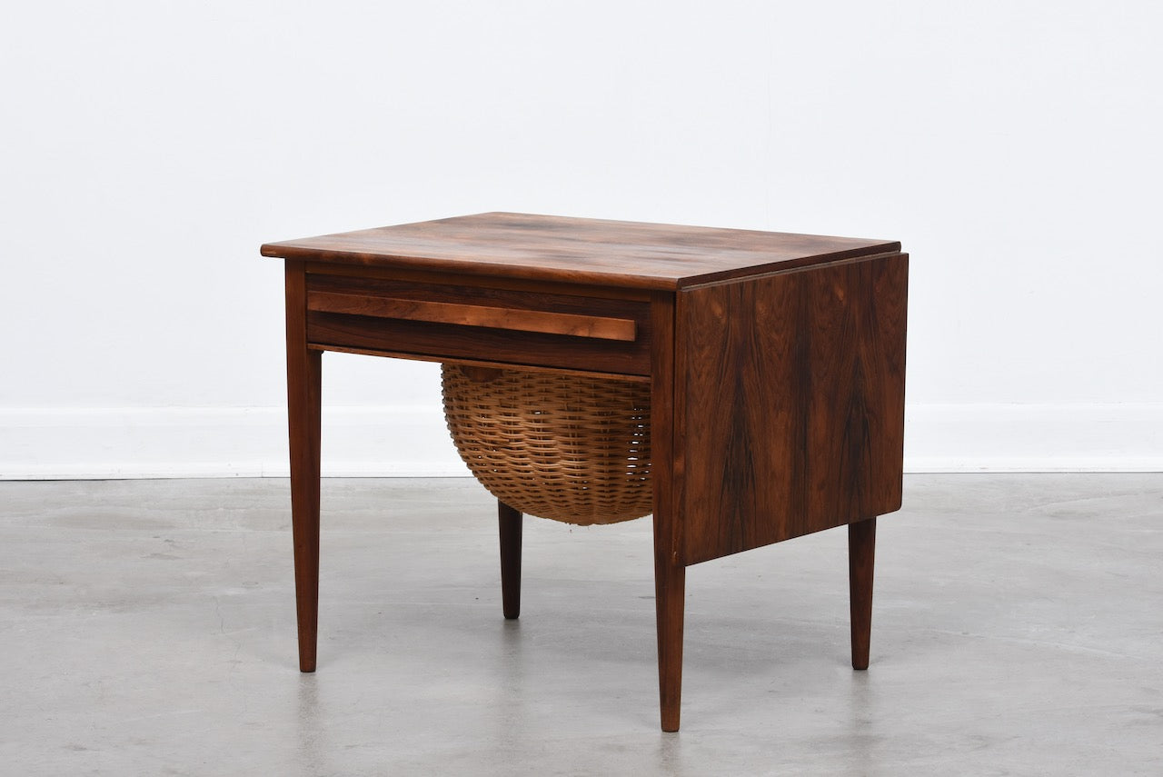 Sewing table in rosewood by Johannes Andersen