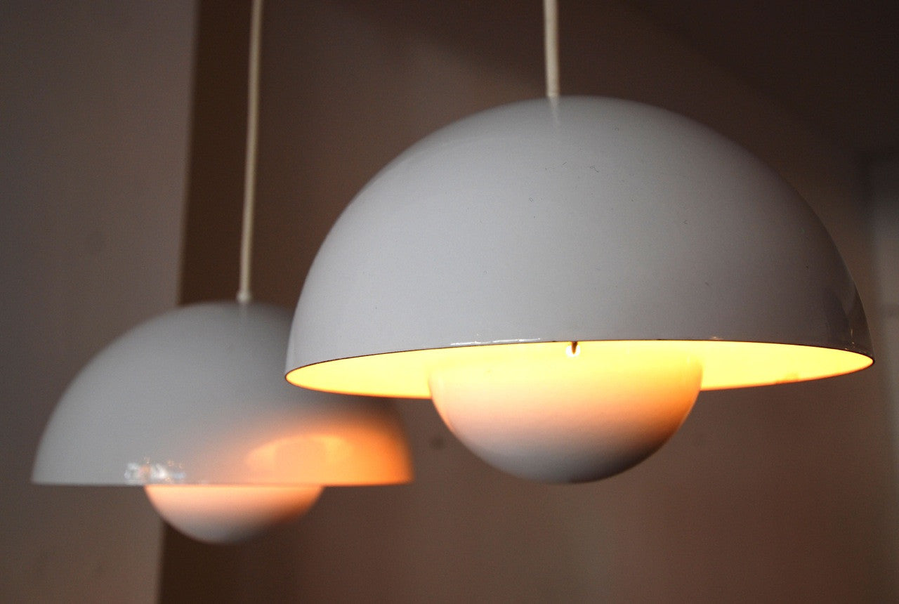 Pair of ceiling lamps by Verner Panton