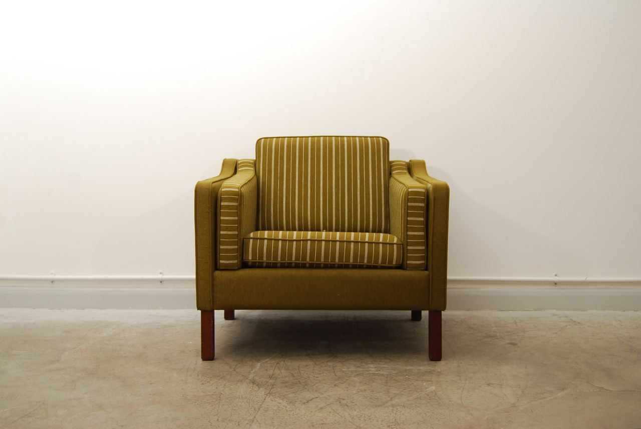 Forest wool lounge chair in style of Mogensen