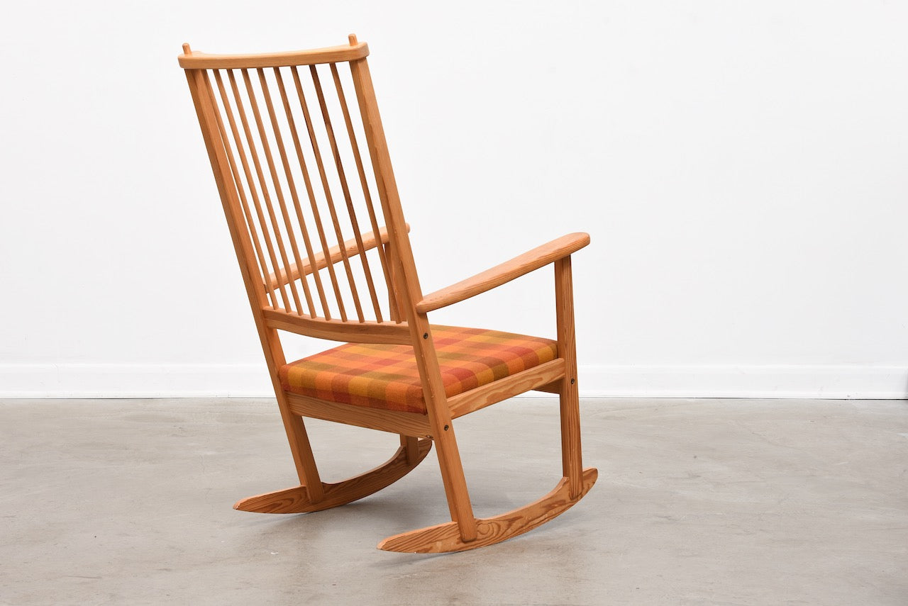 1970s rocking chair by Yngve Ekström