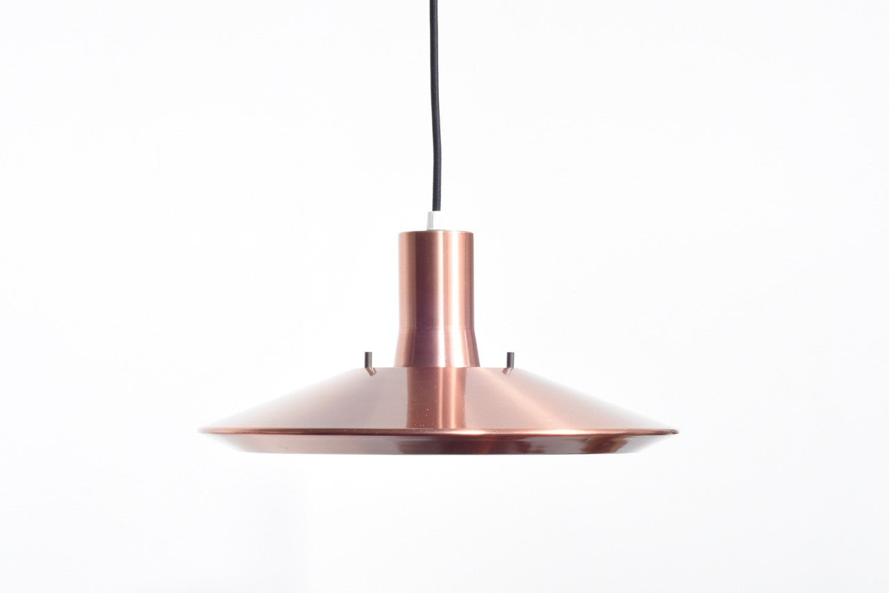 Large copper pendant light