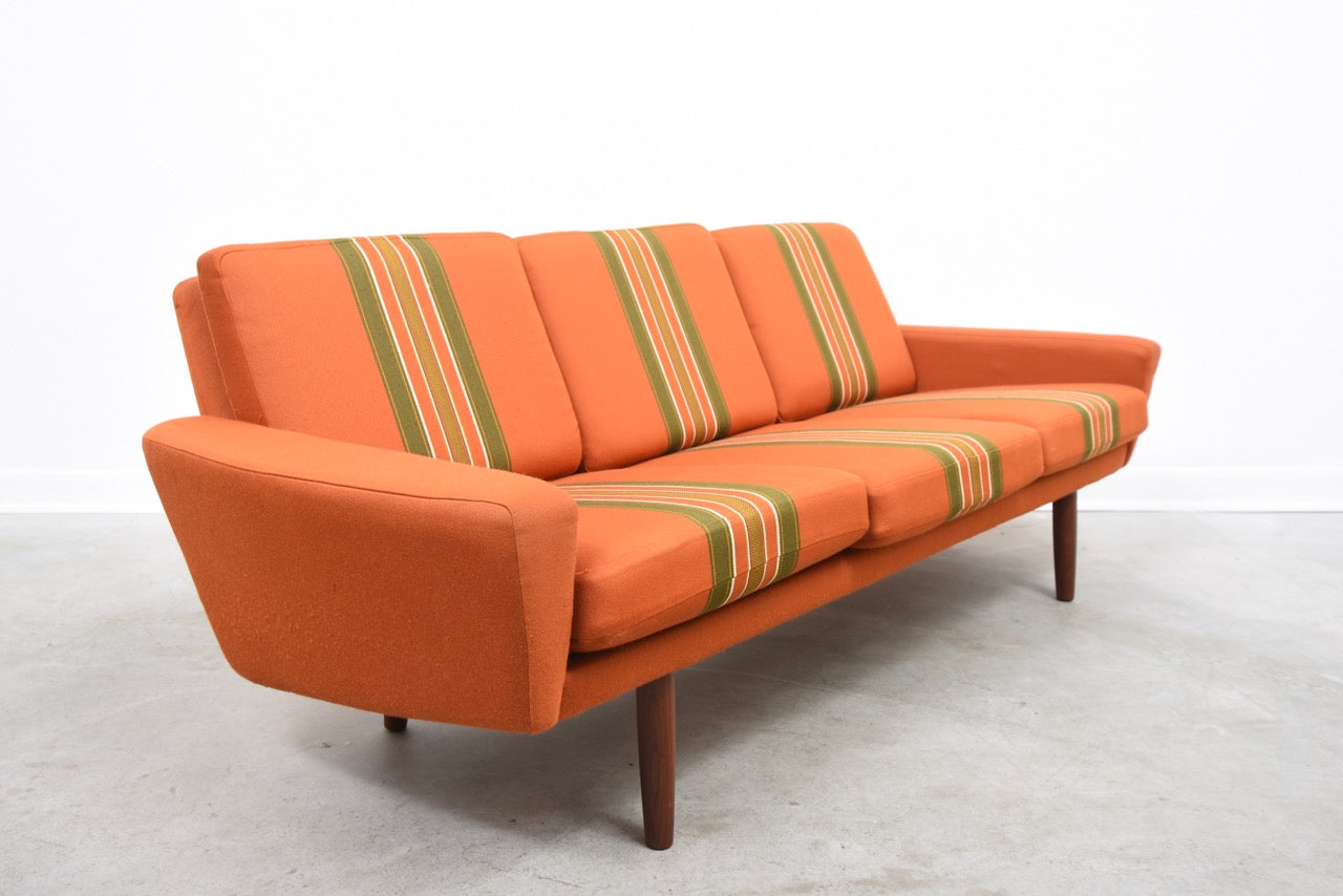 PrebenFeb18 1960s three seater with matching foot stool